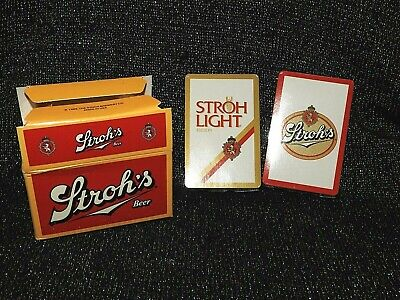 STROHS Beer NEW & SEALED 1986 Playing Cards in Box