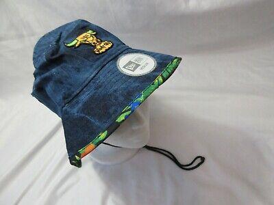NWT Men's Medium M New Era CHICAGO BULLS Denim Meets Tropics Bucket Hat Cap