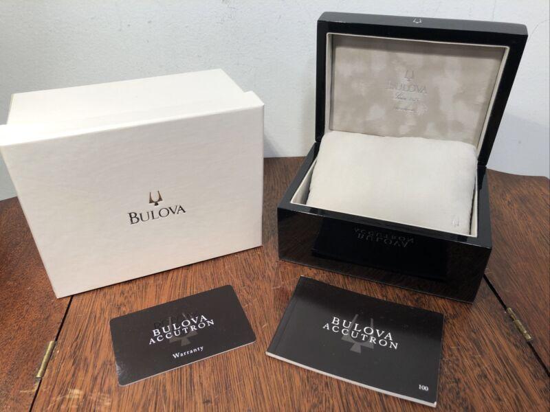 NEW Authentic BULOVA ACCUTRON Black Lacquer Presentation Watch Box