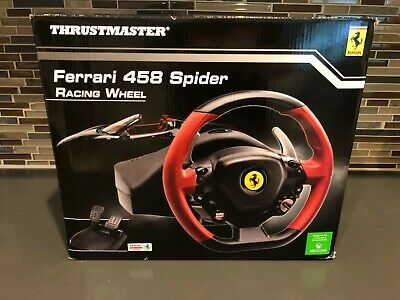 NEW Xbox One Steering Wheel Controller Driving Pedals Racing Video Game Ferrari