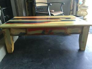 Caribbean/ 'boat wood style' coffee table Hillarys Joondalup Area Preview