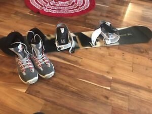 Salomon Snowboard with bindings and Kemper Snowboard Boots