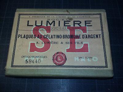 LUMIERE - BOITE neuve SCELLEE - PLAQUES GELATINO-BROMURE D'ARGENT SE 9X12