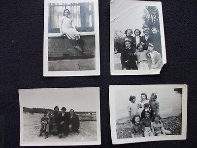 "OLD PHOTOS BLACK AND WHITE 3 ½"" x 2 ½"" x 4 ORIGINAL PHOTOS"