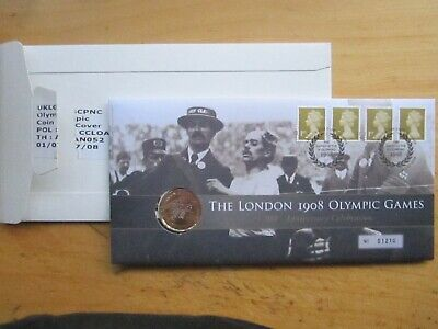 ROYAL MAIL FDC UK £2 COIN THE LONDON 1908 OLYMPIC GAMES 100TH ANNIVERSARY 2008