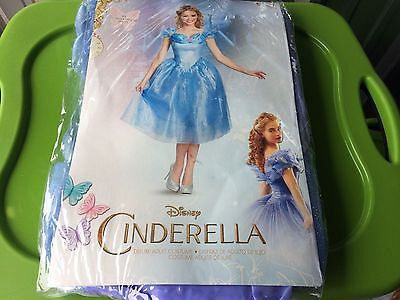 NEW MEDIUM Disney DELUXE Cinderella Dress Adult Costume Princess Cosplay 8-10 - Costumes Disney Adults