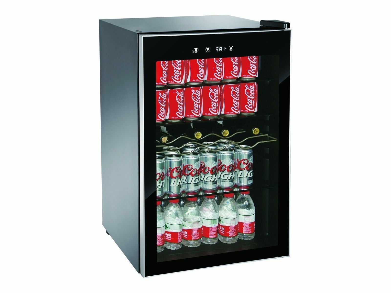 Beverage Center Refrigerator Cooler Glass Door Mini Fridge W