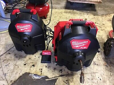 Milwaukee M18 Cordless Switch Pack Sectional Drum Drain Cleaner, 2775D-222
