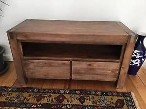 Solid timber TV cabinet Beaumaris Bayside Area Preview