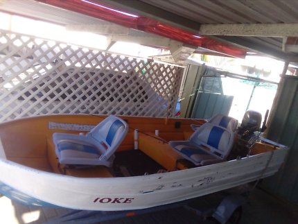 12ft Tinnie boat 15hp yamaha motor