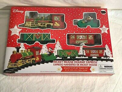 Disney MICKEY MOUSE Holiday Christmas EXPRESS Train Set 12 piece set NEW IN BOX