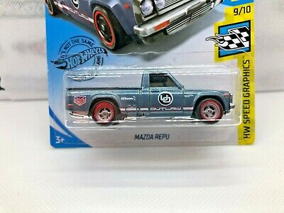 Hot Wheels Mazda Repu pickup truck - SUPER CUSTOM with Real Riders
