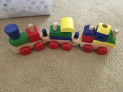 Melissa And Doug Stacking Train Learning Wood Blocks Choo Choo Train (Melissa And Doug Stacking Train)