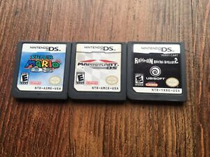 Nintendo DS Games,MarioKart,Super Mario 64, Raving Rabbids 2