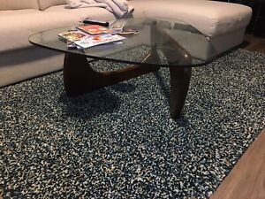 Mid-century modern glass top table