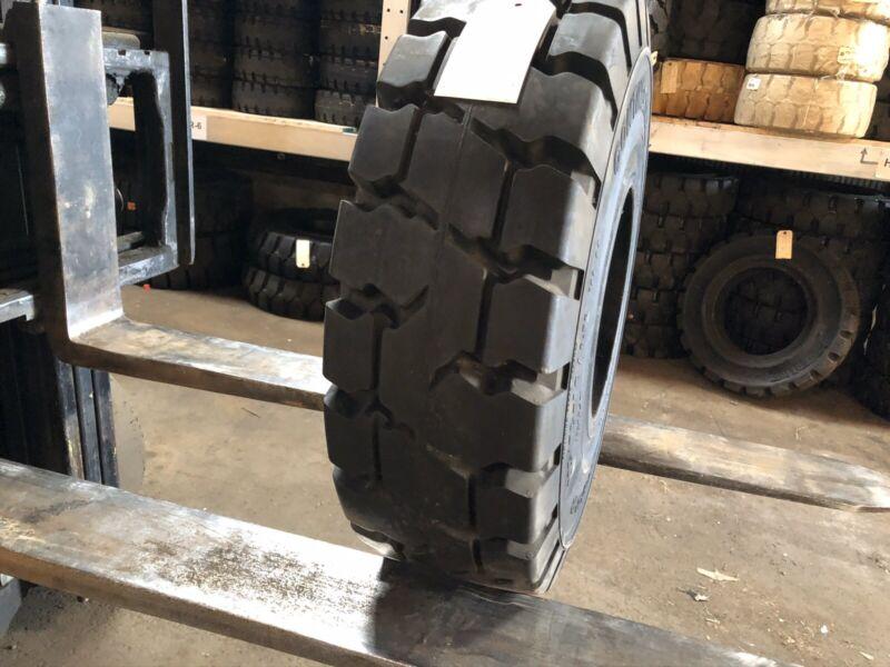 225/75-10 (23x9-10) Continental Solid Pneumatic Tire Rim 6.50 Forklift NashFuel