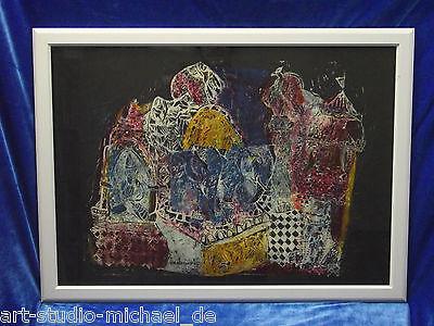 Norddeutsche Künstler: Helmut Hertrampf, Monotypie von der indischen Reise