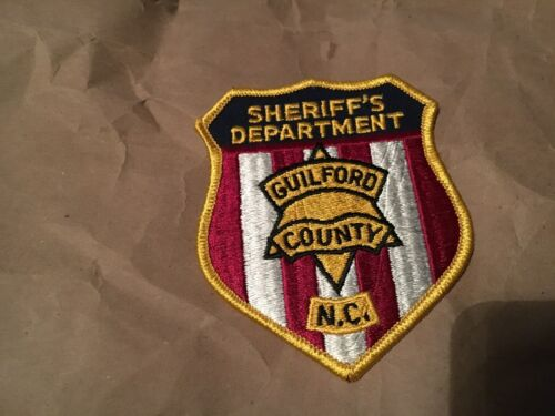 GUILFORD COUNTY SHERIFF NORTH CAROLINA POLICE patch NB
