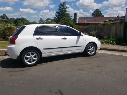 2003 toyota corolla with 6+ months rego for $3600 ono.