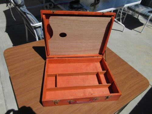 Vintage Wood Paint Field Box Storage Case Palette Painting Supplies Carry Case