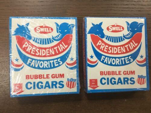 Swell Presidential Favorites bubble gum cigars, Bush and Dukakis