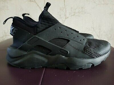 MENS NIKE AIR HUARACHE ULTRA RUN TRAINERS SIZE 10 UK. TRIPLE BLACK