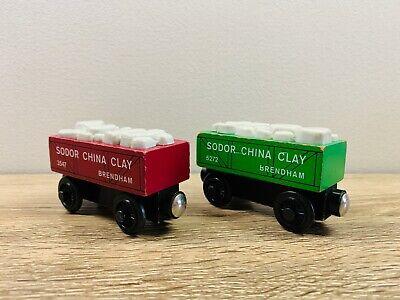 Red Green Sodor China Clay Car Set Thomas The Tank Engine Wooden Railway Trains