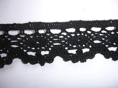 25m Klöppelspitze 0,60€/m schwarz 3cm breit  K50.1