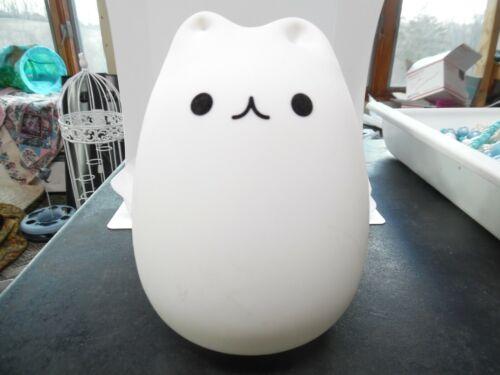 Umiwe Cute Kitty LED Children Night Light Kids Silicone Cat Lamp 8 Single Colors
