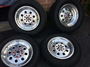 "Mustang  15"" weld draglites rims and tires"