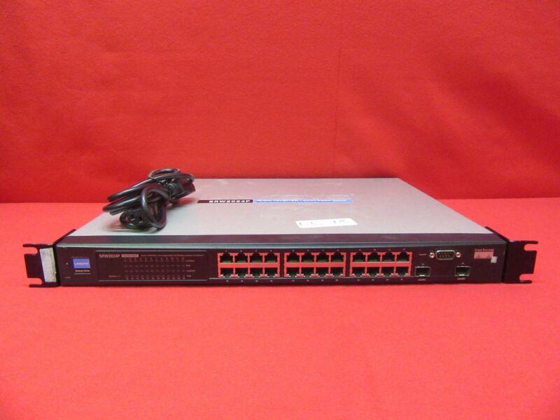 Linksys Srw2024p 24-port 10/100/1000 + 2-port Gigabit Switch Poe W/ Webview