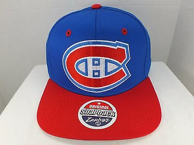 Zephyr Nhl Hut (Montreal Canadiens NHL Vintage Logo Blau/Rot Snapback Hut Mütze Neu von Zephyr)