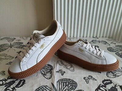 PUMA BASKET WOMEN'S TRAINERS SIZE 5UK WHITE LEATHER