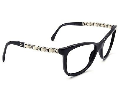 Chanel Sunglasses FRAME ONLY 5260-Q C.888/S6 Black Cat Eye Italy 57[]17 140