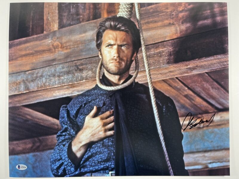 CLINT EASTWOOD SIGNED THE GOOD THE BAD AND THE UGLY 16x20 PHOTO BAS LOA #A59696
