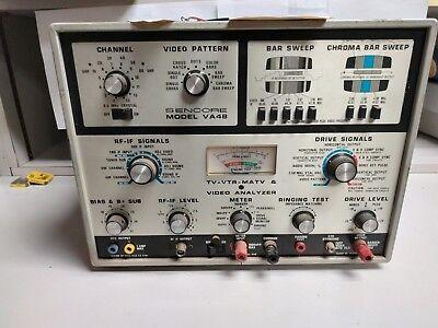Vintage Sencore Va48 Tv-vtr-matv Video Analyzer Meter Rf Led Uhf Crt Working