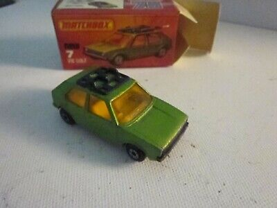 Matchbox Superfast No.7 VW Golf LS AHK. Lesney England 1976