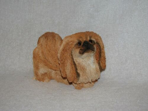 Nicely Detailed Standing Pekingese Dog Figurine