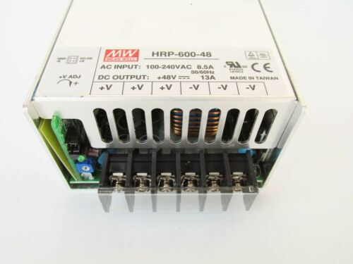 Mean Well HRP-600-48 Power Supply 100-240VAC In 48VDC 13 Amps out