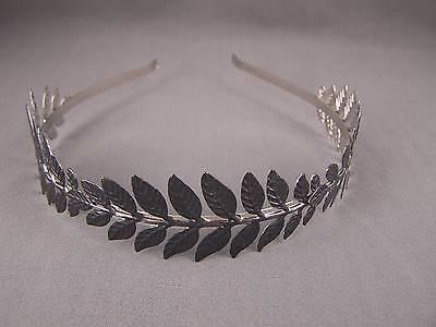 Black Laurel Leaf crown Leaves headband hair band greek toga roman - Black Toga