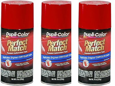 3-Cans Duplicolor BCC0419 For Chrysler Code  PR4 Flame Red Aerosol Spray Paint (Flame Red Aerosol)