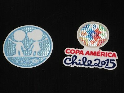 COPA AMERICA 2015 Chile Soccer Jersey Patch Set Patches Argentina Brazil Uruguay image