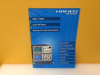 Hameg Instruments 1998 Product Catalog