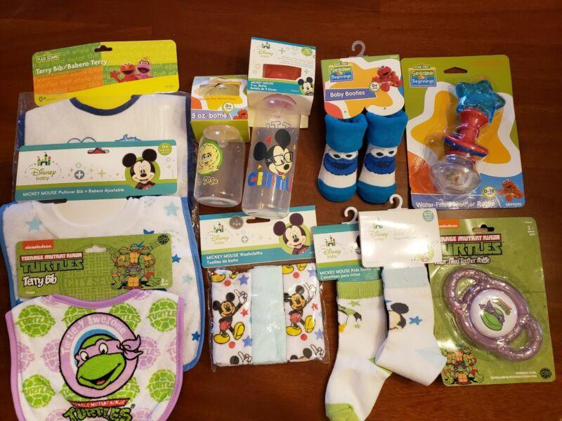 NEW Sesame Street / Disney Baby Shower Gift Set 11 Pieces