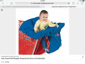 Jolly Jumper Shopping Cart Cover in Red with safety straps