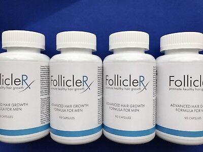 4 X FOLLICLERX  Promote Healthy Hair Growth-Follicle RX Hair Growth Formula
