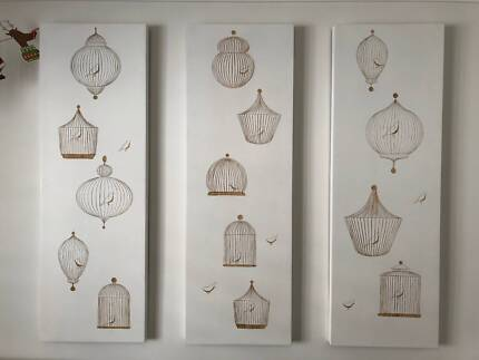Etched timber wall art
