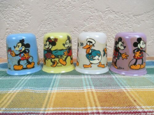 (4) Vintage NOMA Disney Christmas Light Covers Mickey, Donald, Minnie ++ - 1934