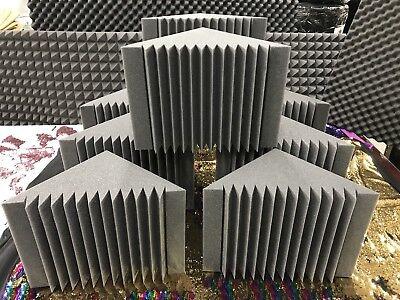 8 Pack Acoustic Foam Bass Trap Recording Studios Corner Wall 12