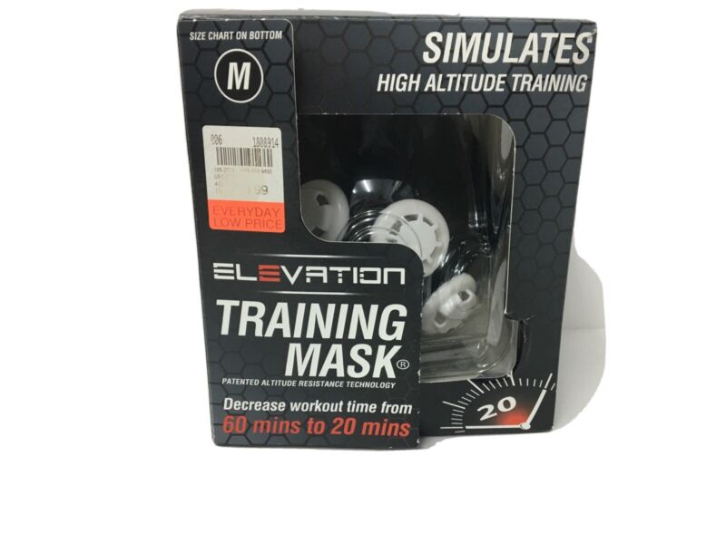 ELEVATION Training Mask 2.0 High Altitude Training Medium- NEW Open Box